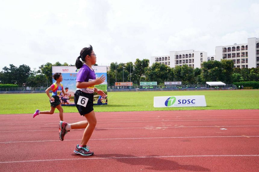 Participants in the Haw Par National Youth Para Athletics Championships on March 31.