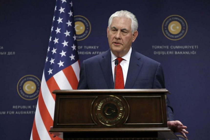 US Secretary of State Rex Tillerson at a press conference in Ankara, Turkey, on March 30, 2017.