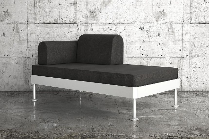 A prototype bed (above) from Ikea's Delaktig collection by veteran British designer Tom Dixon.
