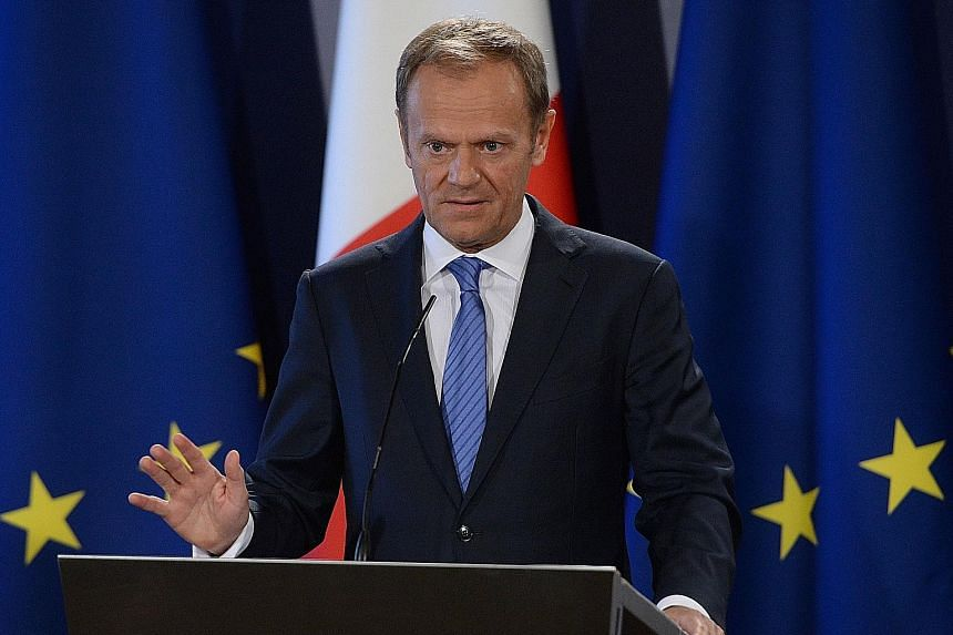 Mr Tusk says there will be no starting parallel talks on all issues.