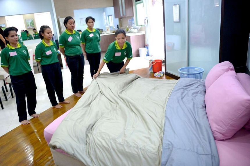 The minimum salary for Filipino maids will rise to $570 from May 1 to keep pace with exchange rate fluctuations.
