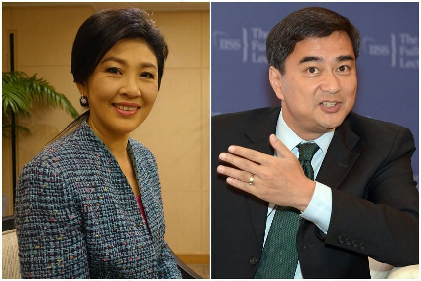 The investigation reportedly focuses on Cabinet members from the previous governments of Yingluck Shinawatra (left) and Abhisit Vejjajiva.