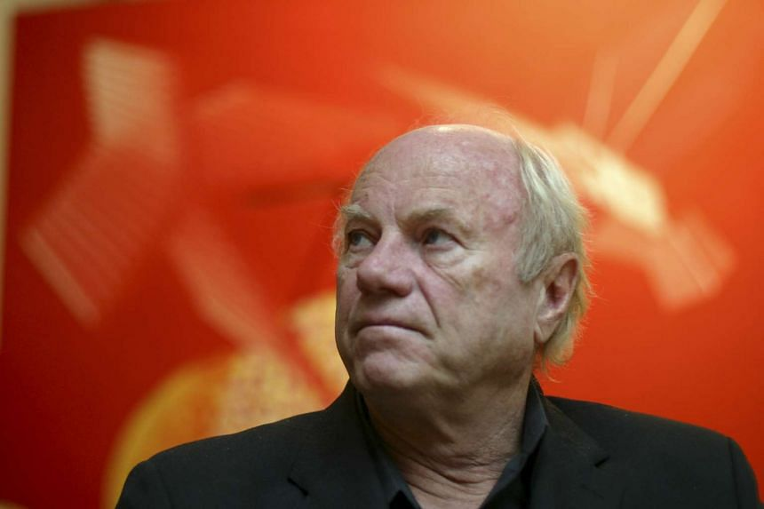 James Rosenquist, the artist, with some of his works in New York in October 2003.