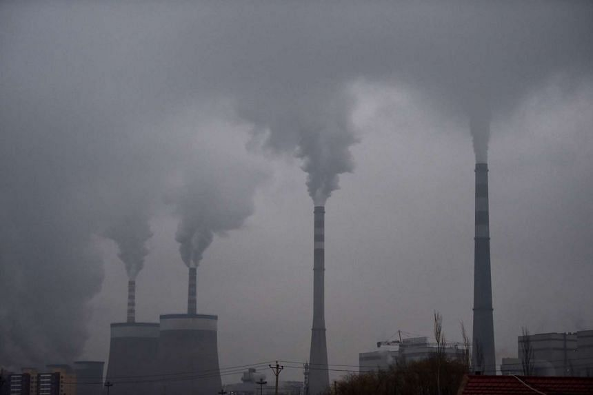 A coal-fueled power station near Datong, in China's northern Shanxi province. Shanxi has large coal mining industries, where explosives are regularly used.