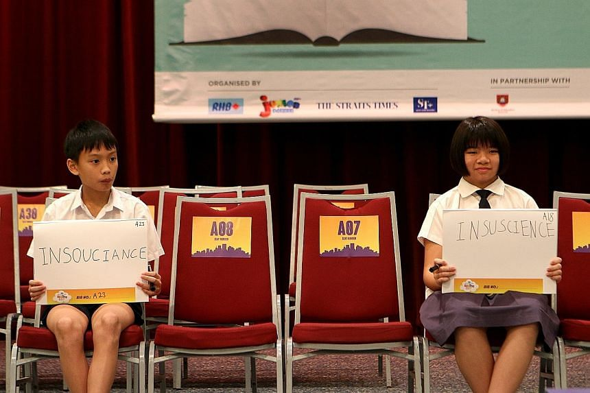 From left: Matthew Ng, Eashaa Pillai and Sam Shreyas Joseph emerged third, second and first respectively in Group B.