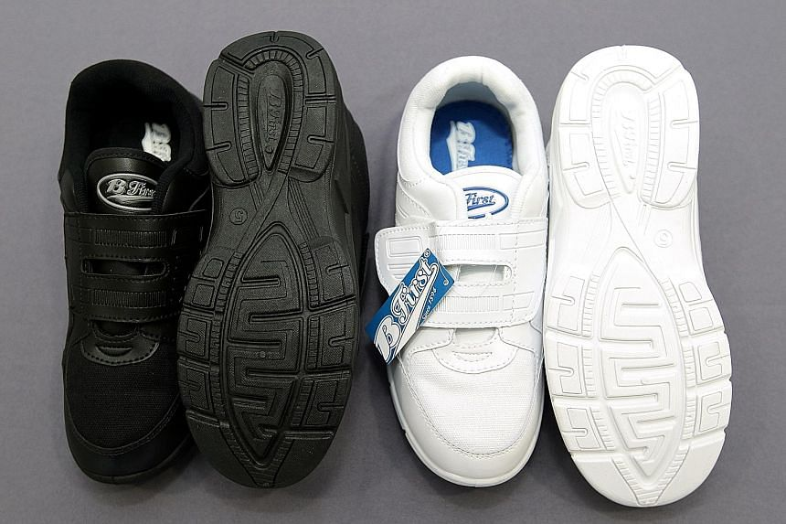 """The B-First shoes which reportedly had the word """"Allah"""", meaning God in Arabic, on the soles. The shoes were among the company's best-selling products with around 1,500 pairs sold weekly prior to the controversy."""