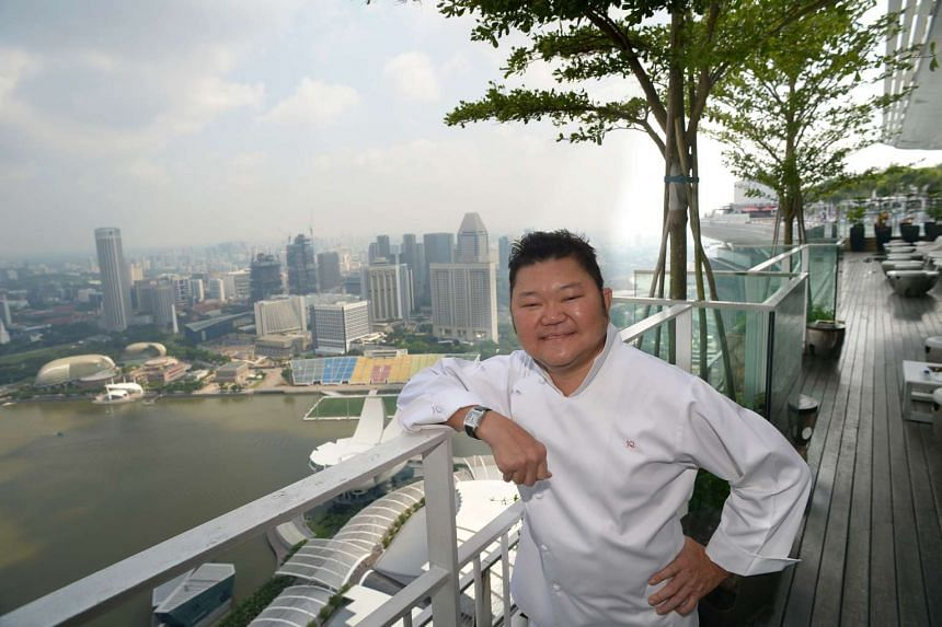 Chef Justin Quek at his restaurant Sky on 57 at Marina Bay Sands. The restaurant will close on June 4.