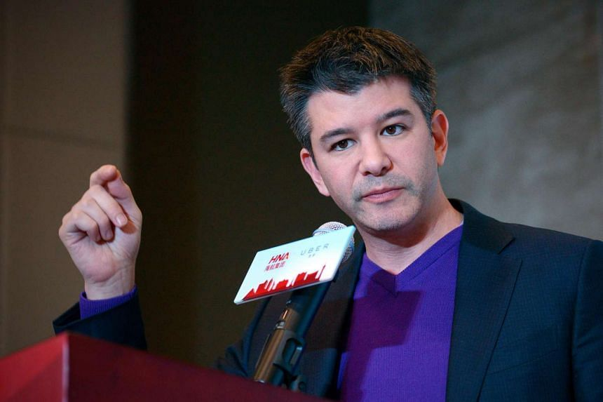 Travis Kalanick, CEO of  ride-sharing service Uber, during a press conference in Beijing on Jan 11, 2016.