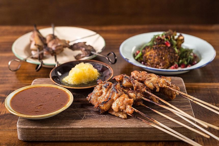 The Tiong Bahru Satay Man (above), whose real name is Mr Ang Boon Ee, peddled his satay in the estate for more than 30 years until he was forced to retire in 2015. Foodies can enjoy it as part of the Satay Platter at a one-night-only tie-up with Mediterra