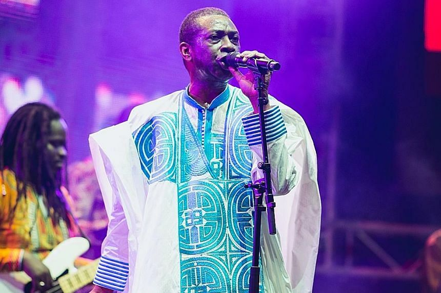 American multi- instrumentalist Esperanza Spalding displayed dazzling virtuosity, while Senegalese singer Youssou N'Dour (above) gave a fretless feel to his prayerful performance with shades of reggae.