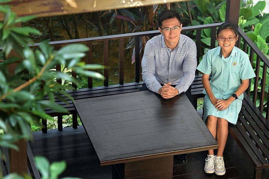 Nicole with Mr Huang, her Sec 2 Mathematics teacher at Pei Hwa Secondary. The former N(A) student accepted an offer to take Mathematics at the Express level in Sec 2. She is now in the Express stream, having done well in her Sec 2 year-end exams.