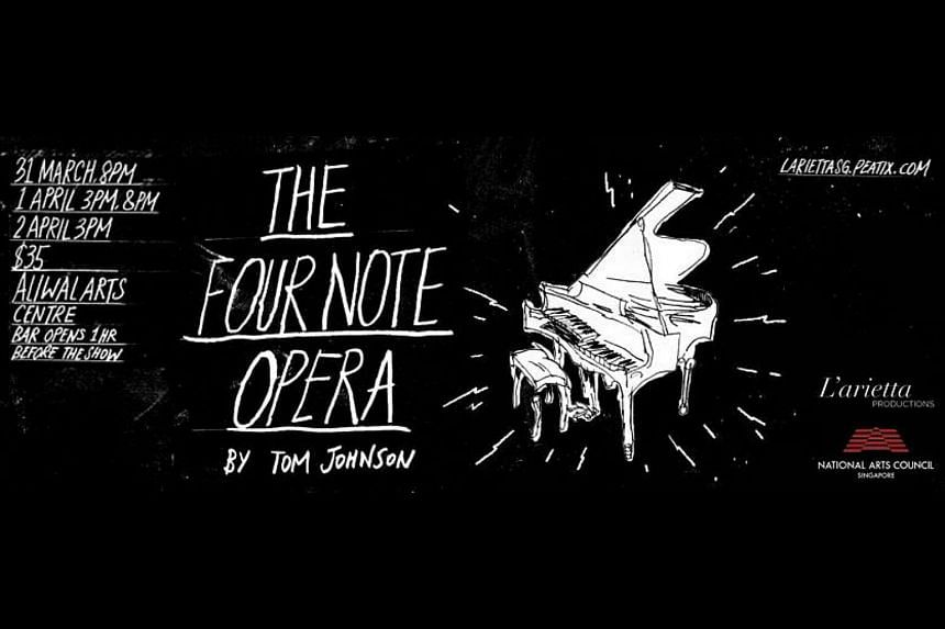 Tom Johnson's Four Note Opera is, as the name suggests, based on just four notes (occasionally other notes did creep in for special effect).
