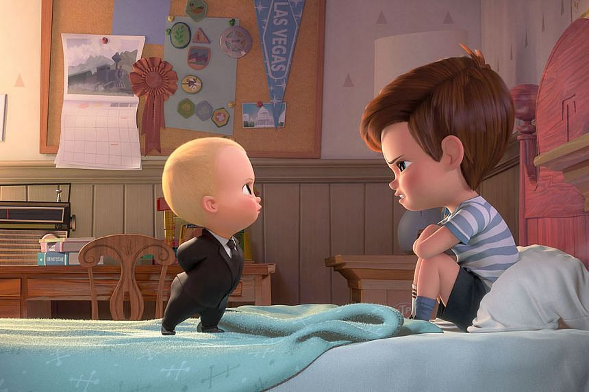 Boss Baby tries to convince Tim that they must cooperate.