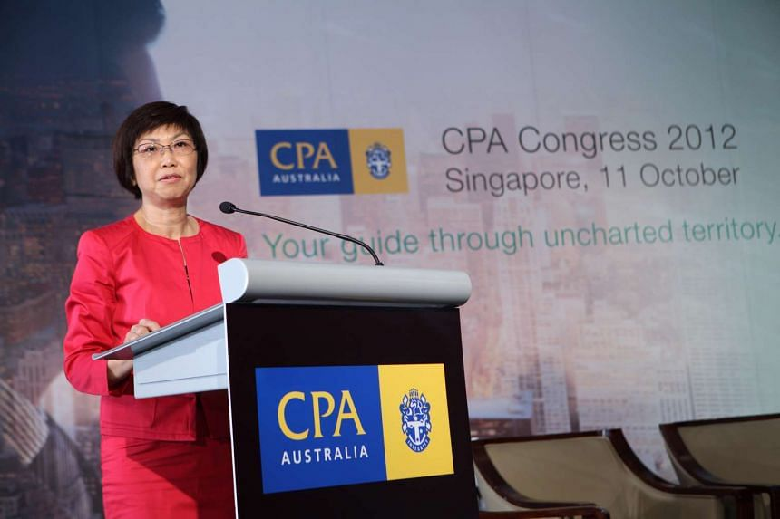 Ms Lim Soo Hoon, chairman of the Accounting and Corporate Regulatory Authority (Acra), speaking at the CPA Congress on Oct 11, 2012.