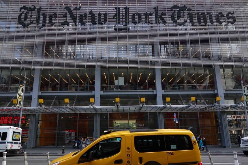 The New York Times building at 620 Eighth Avenue in New York on April 28, 2016.