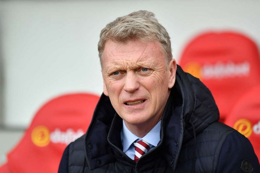 Sunderland manager David Moyes before the game with Burnley at the Stadium of Light on March 18, 2017.