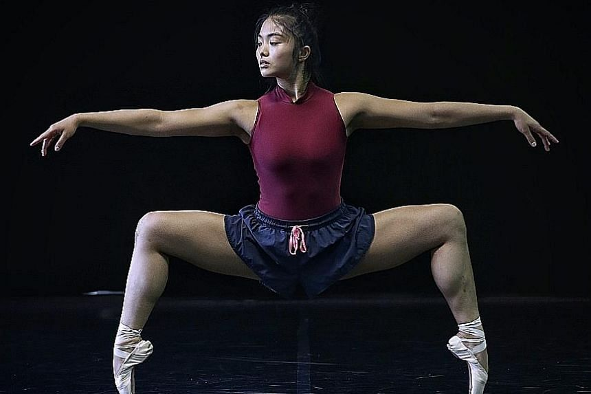 Frontier Danceland artist Adelene Stanley, 21, goes en pointe, which places her entire body weight on the tips of her toes. Ballerinas are very prone to ankle and foot injuries as a result of going en pointe so much.