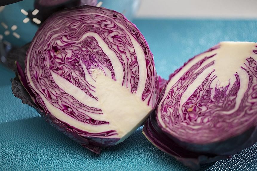 Red cabbage is not as high in antioxidants as blueberries but it contains a good variety of nutrients.