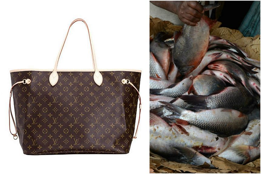 A Taiwanese grandmother purportedly used the expensive Louis Vuitton bag her grandson bought for her to carry fish and groceries.