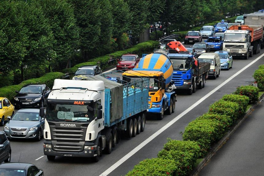 About 45 per cent of heavy vehicle drivers who caused accidents in the last five years were foreigners, said Mr Amrin Amin.