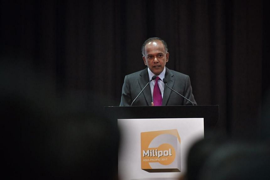 Minister K. Shanmugam said closing Hougang MRT station on Sunday after the discovery of an unattended bag was the right thing to do. He was speaking at the Milipol Asia-Pacific 2017 conference.