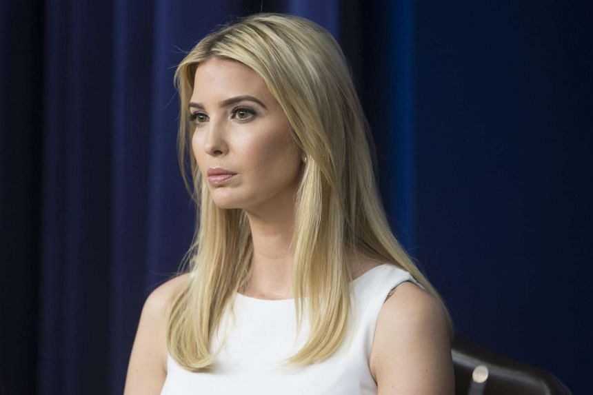Ivanka Trump participates in a town hall meeting on the business climate in the United States, in the White House complex on April 4, 2017.