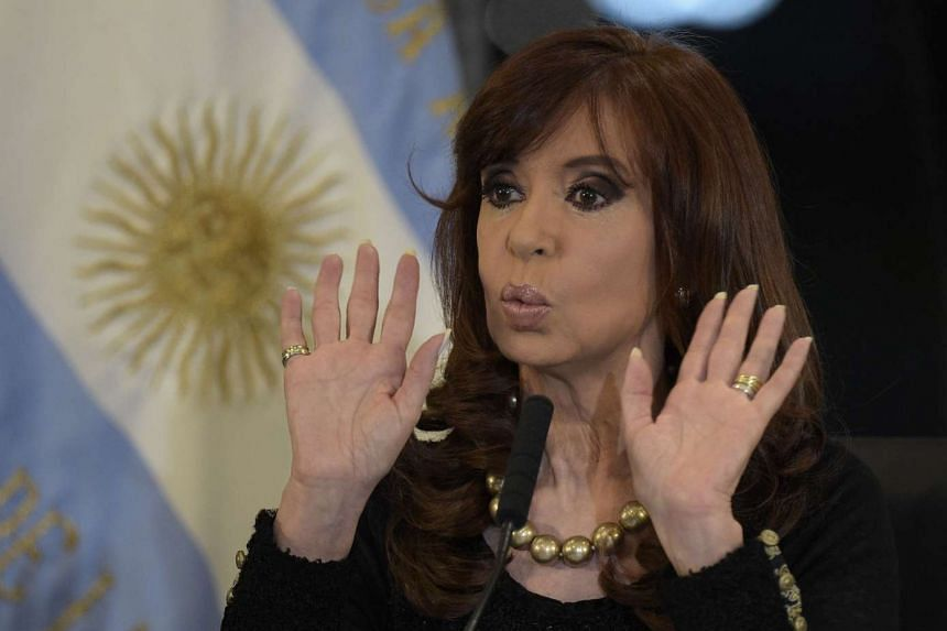 Argentine President Cristina Kirchner gestures in a 2015 file photo.