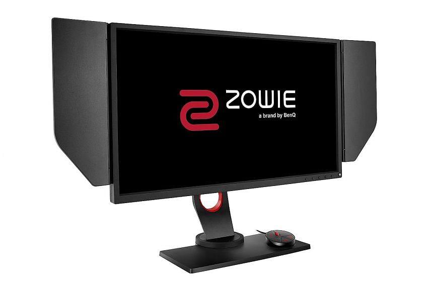 The screen of the BenQ Zowie XL2540 can be adjusted and made bright enough so that gamers find it easier to spot enemies lurking in the shadows. Privacy shields prevent prying eyes from checking out the screen.