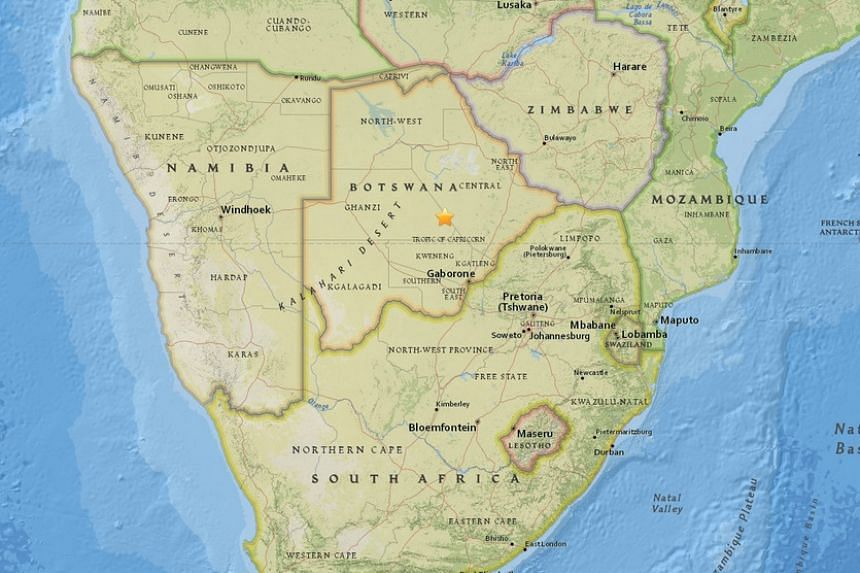 A magnitude 5.0 earthquake struck Botswana in the early hours of Wednesday (April 5).