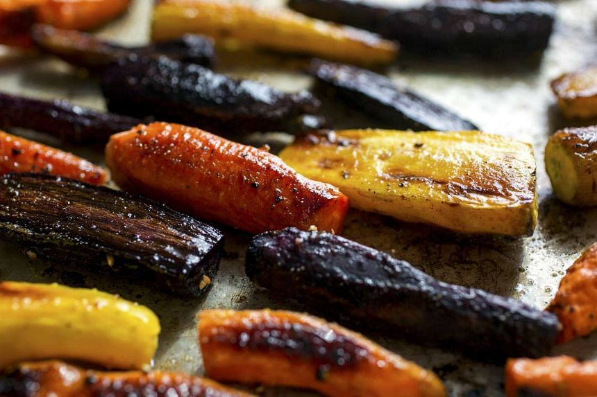 The sweet juices condense when carrots are roasted, turning honeylike and golden.