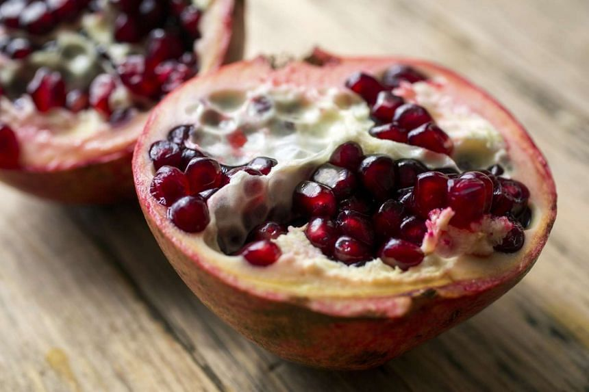 Add fresh pomegranate seeds to bring out the flavours in the salad.