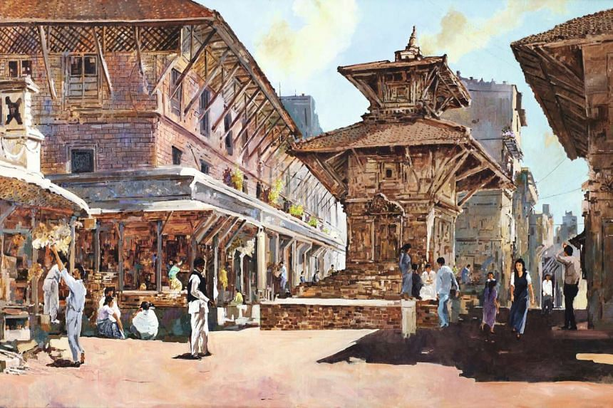 The acrylic on canvas painting, titled Nepal,  was sold at a Sotheby's Hong Kong auction on April 3.