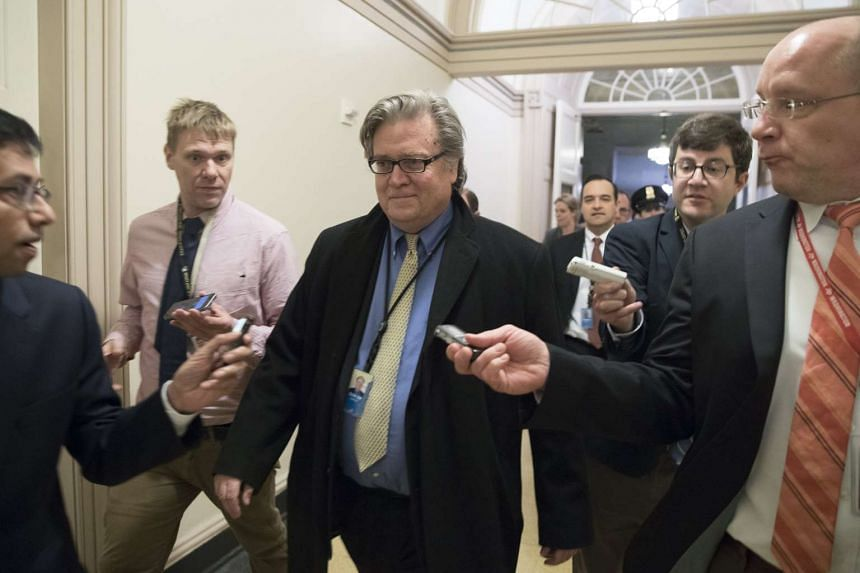 Trump chief strategist Stephen Bannon (above, in a file photo) was removed by the US President from the National Security Council.