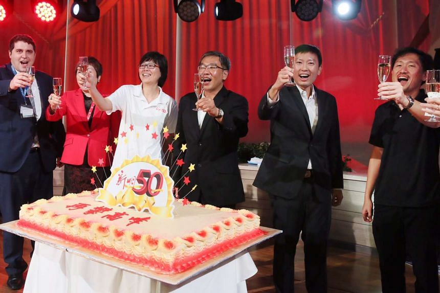 Shin Min Daily News' 50th Anniversary celebration onboard the Royal Caribbean Ovation of the Seas.