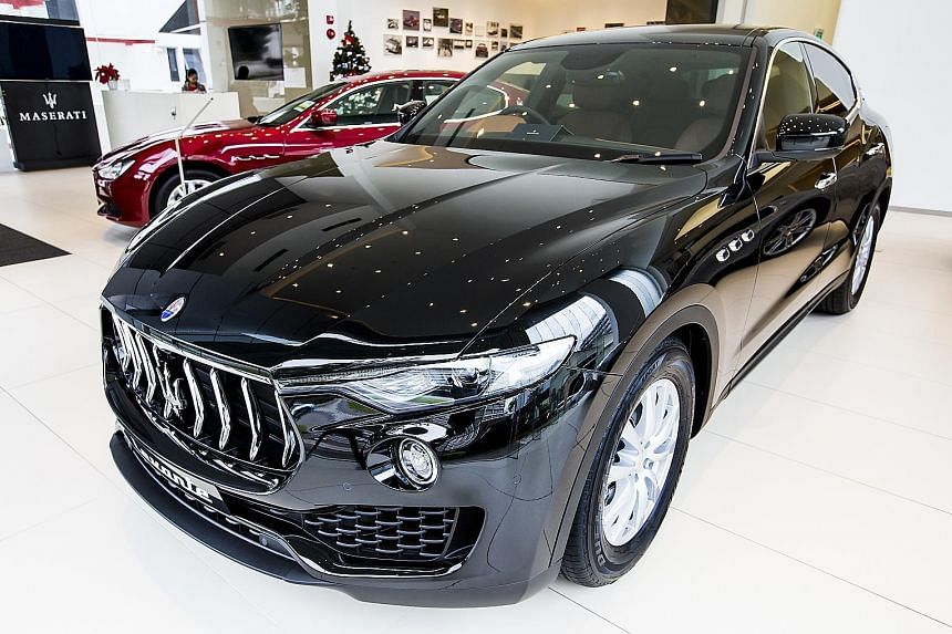 Last year, 63 Maserati cars were registered in Singapore, down from 75 in 2015 and an average of 69 in each of the previous 10 years.