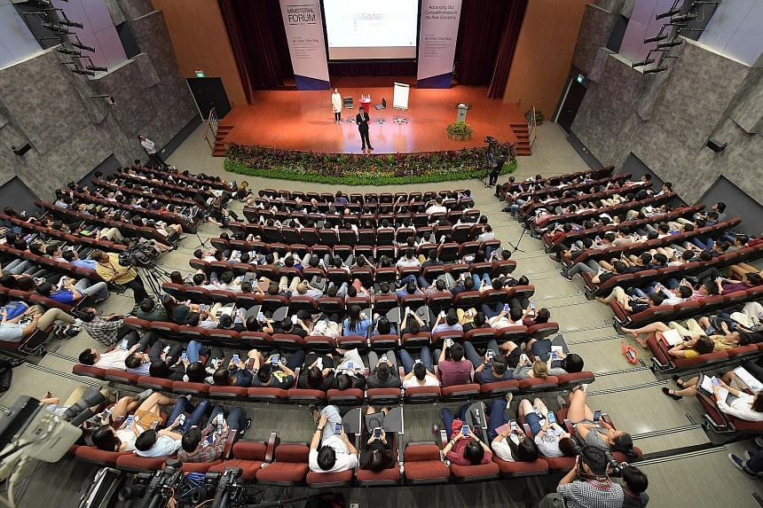 "At the NTU dialogue last night, Mr Chan Chun Sing encouraged students to ""know what is happening beyond your books"", and reminded them of the importance of giving back, saying it is then that ""we have every confidence Singapore will also be successfu"