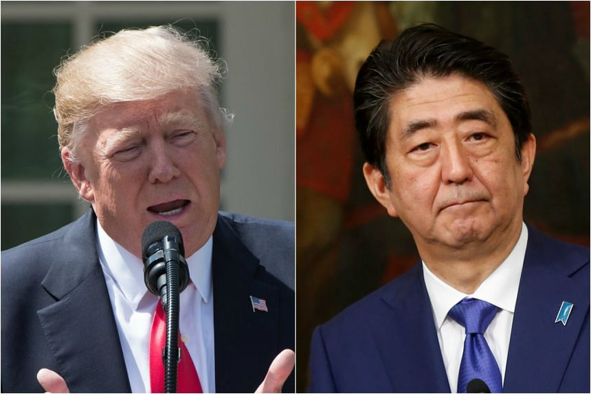 US President Donald Trump spoke by phone on Wednesday (April 5) with Japanese Prime Minister Shinzo Abe.