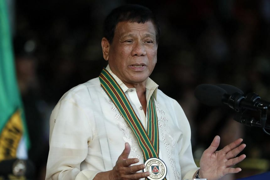 Philippine President Rodrigo Duterte said he planned to plant a flag on the island of Thitu and fortify it with barracks.