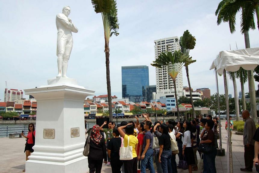 The Sir Stamford Raffles statue at the Raffles landing site along the Singapore River will undergo regular cleaning from April 10 to 11.
