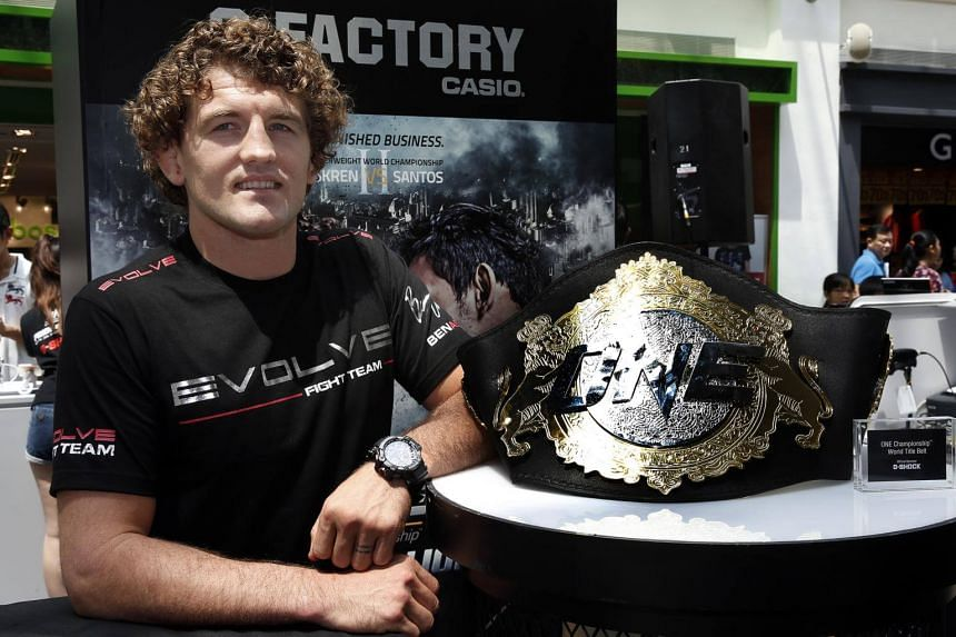 One welterweight world champion Ben Askren (above) will defend his title against Agilan Thani. The bout will take place alongside the main event featuring Angela Lee.