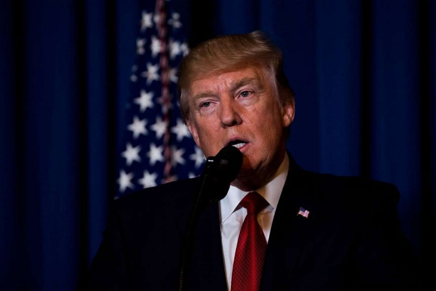 US President Donald Trump announcing the American attack on the Syrian air base.