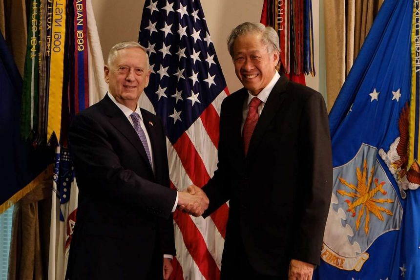 United States Defence Secretary James Mattis and Singapore Defence Minister Ng Eng Hen have affirmed the strong cooperation between the two countries' militaries.