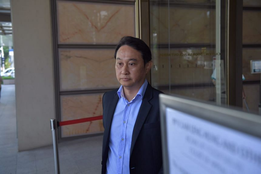 Chew Eng Han leaving the High Court on Friday.