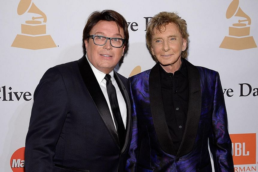 Singer Barry Manilow (left) married his manager Garry Kief in 2014.