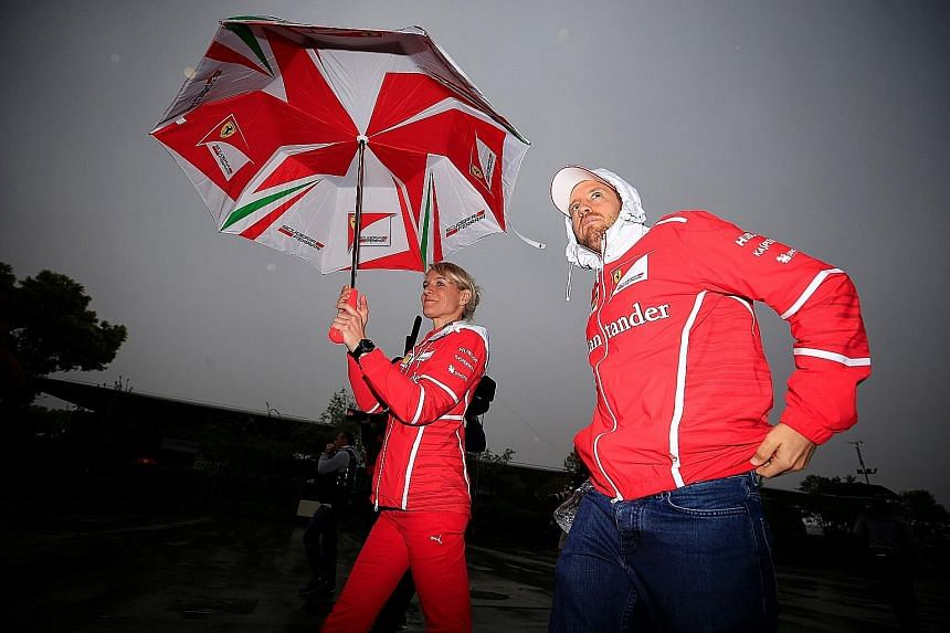 Ferrari's Sebastian Vettel, who won the season's first race in Melbourne, at the Shanghai International Circuit ahead of the Chinese Grand Prix. The German has cautioned owners Liberty Media against making sweeping changes to attract a new spectator