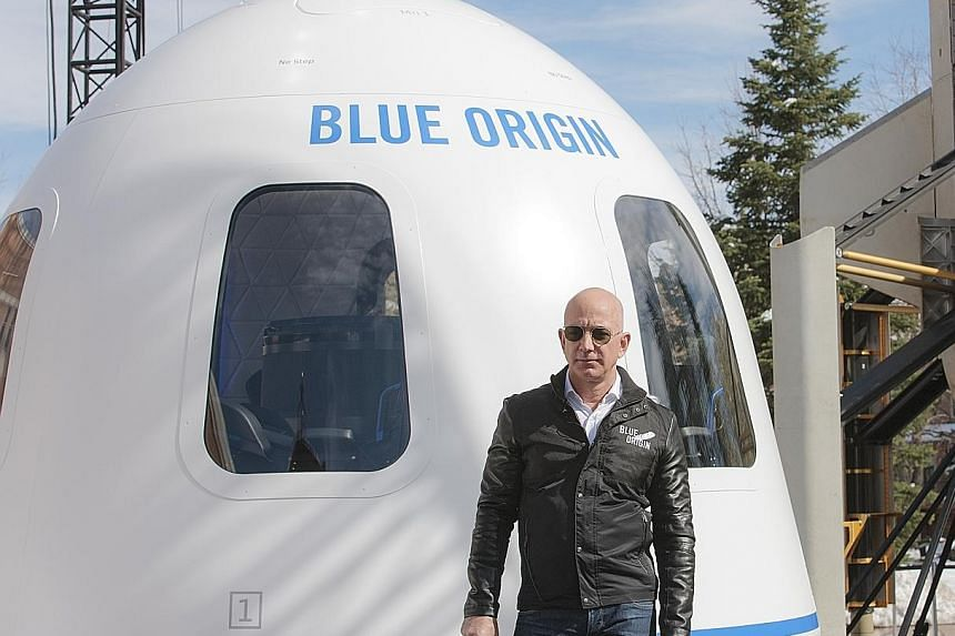 Mr Jeff Bezos is selling Amazon stock to fund his Blue Origin rocket company.