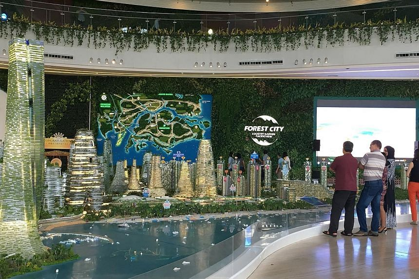 Forest City development's sales gallery in Johor Baru. Chinese buyers of the development's units have been caught out by China's introduction of tighter rules to stem capital flight from the country, with many now unable to service payments after pla