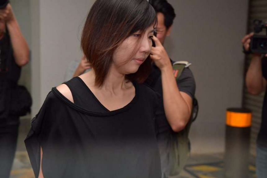 Former finance manager Sharon Tan arriving in court.