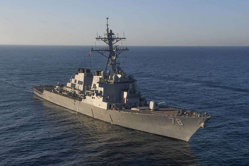 The guided-missile destroyer USS Porter (DDG 78) transits the Mediterranean Sea, on March 9, 2017.