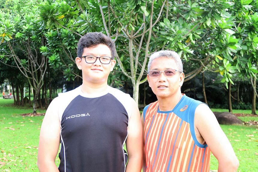 Mr Ikram and his son Aiman.